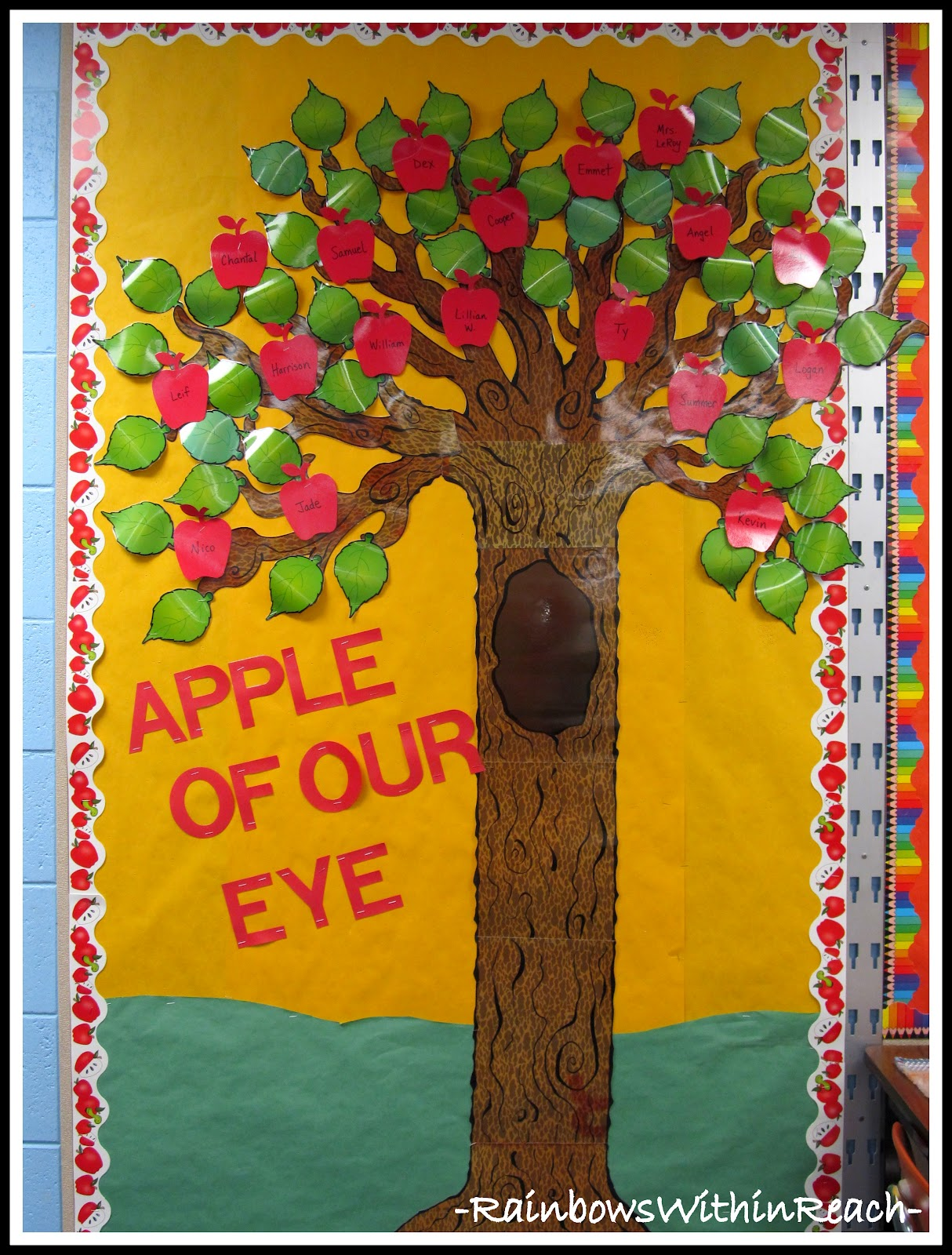 for Apple tree classroom decoration