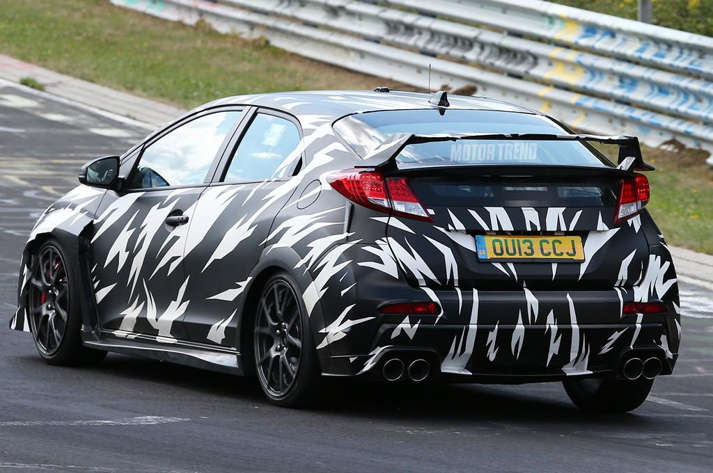 Honda Civic Type R, nowa, test mule, sprawdzanie, Nurburgring, 2.0 turbo, nowy silnik, doładowany, CTR, napęd na przód, FWD, zdjęcia