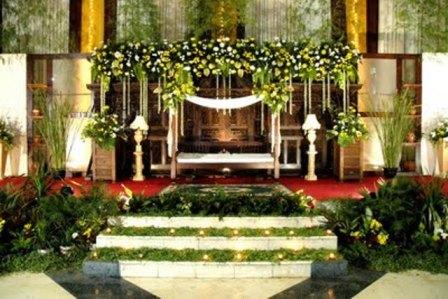 jasa dekorasi pengantin : dekorasi asri minimalis