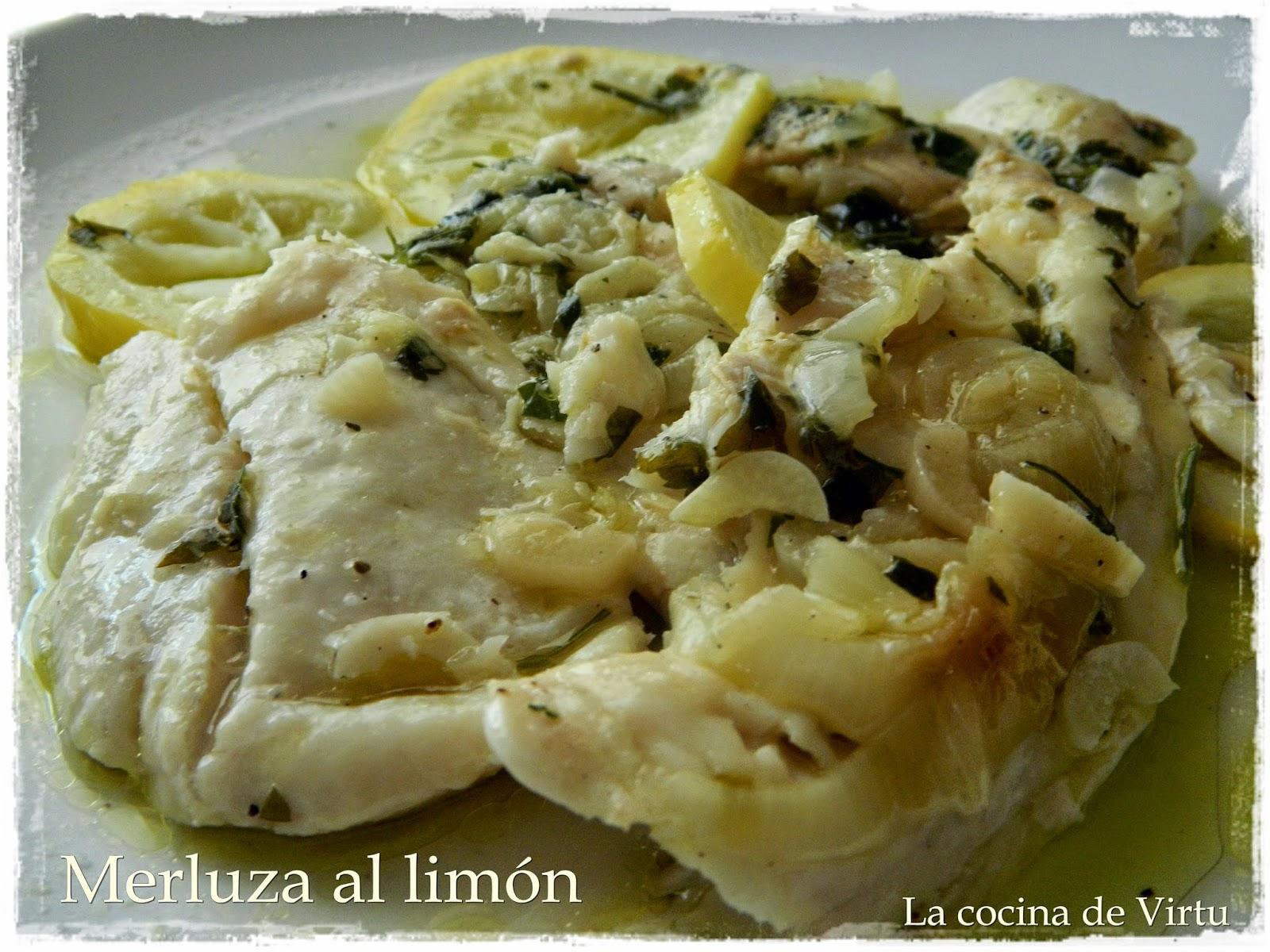 La cocina de virtu merluza al lim n en el microondas - Cocinar pescado en microondas ...