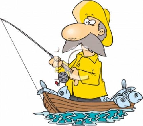 рыбак дорога наклейка комары