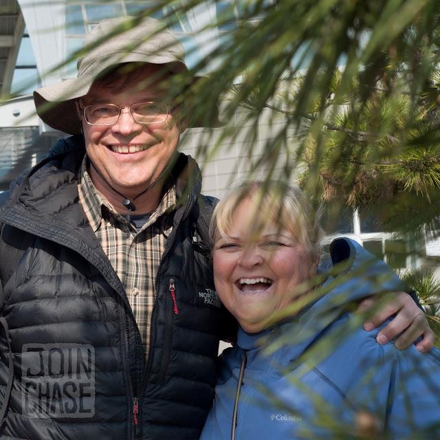 Keith and Debra Odegard in Busan, South Korea.