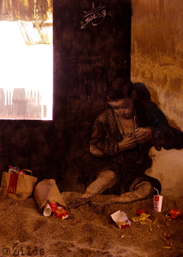 Zilda, street art, Fragiles Fabulae, Lorient
