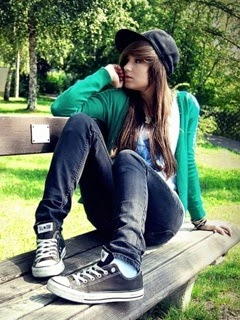 Girl Sitting Alone On Bench Beautiful Sad Girl Sit...