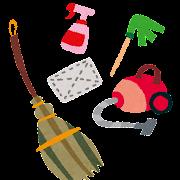 大掃除のイラスト「掃除道具」