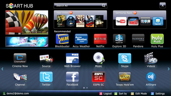 samsung smart tv app web browser