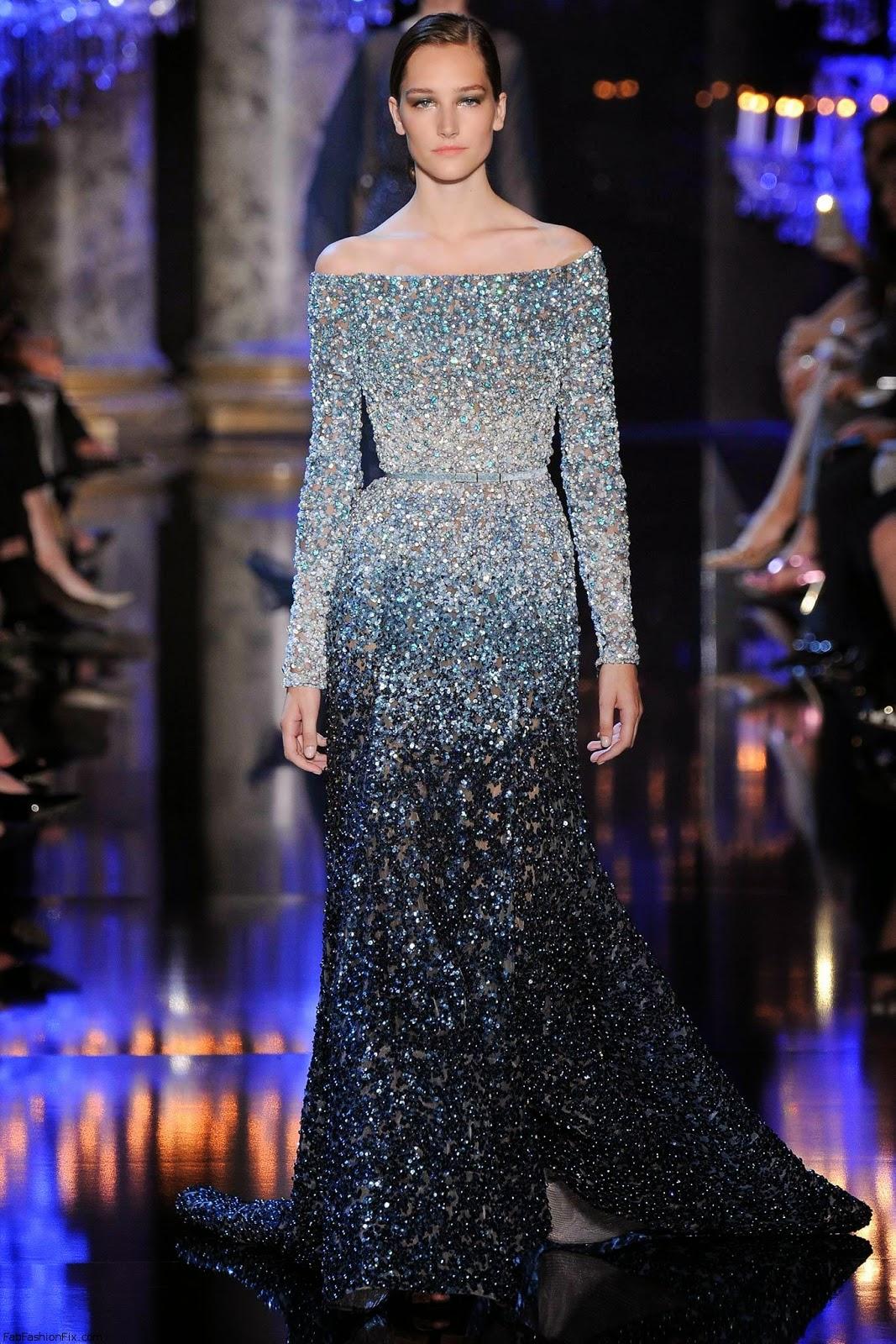 Robe soiree haute couture paris