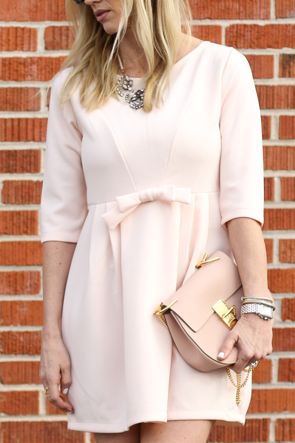 blush cross body gold hardware