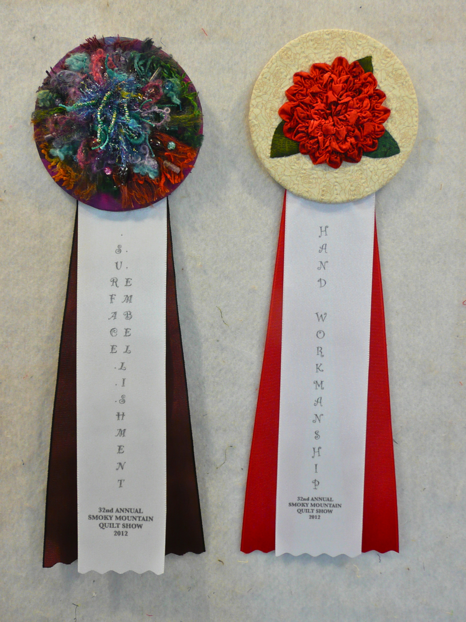 Nellie's Needles: Award Ribbons for SMQ Guild 2012 Show : smoky mountain quilt show - Adamdwight.com