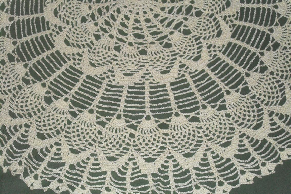 Crochet para Ti: Carpeta redonda mediana con Piñas
