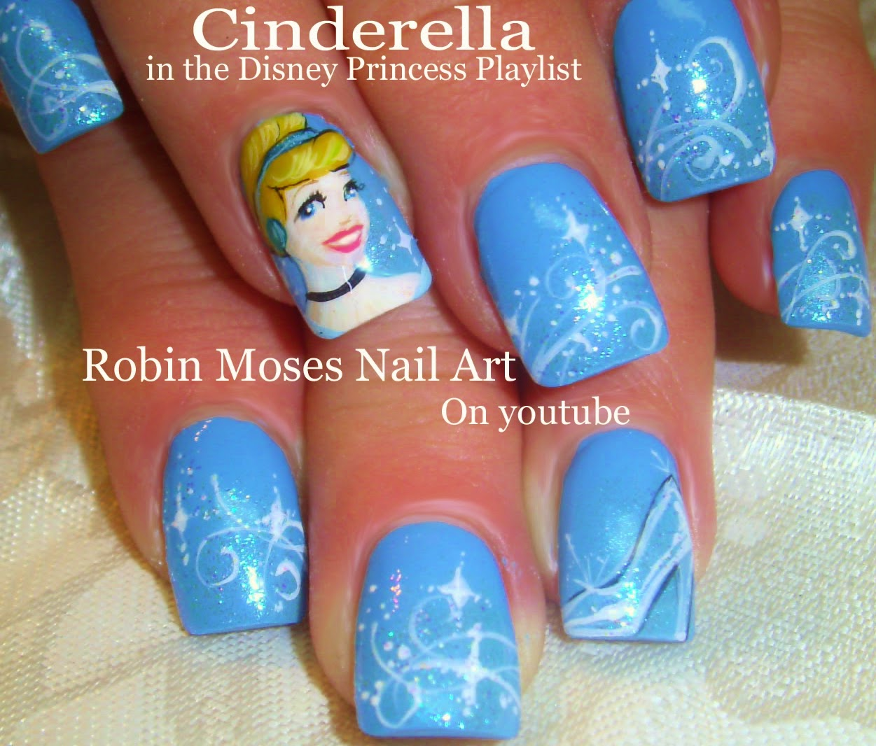 Cinderella Nail Art Design Tutorial up for Friday! - Nail Art By Robin Moses: Cinderella Nail Art Design Tutorial Up For