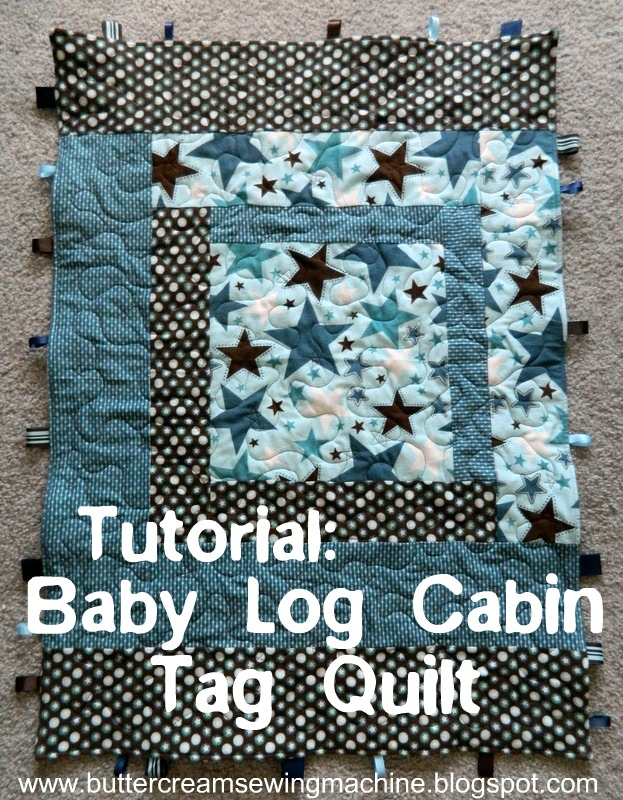 Buttercream and a Sewing Machine: Tutorial: Baby Log Cabin Tag Quilt : log cabin baby quilt pattern - Adamdwight.com
