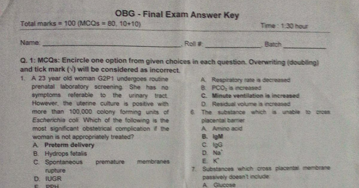 Famous Anatomy And Physiology Questions Multiple Choice Picture ...