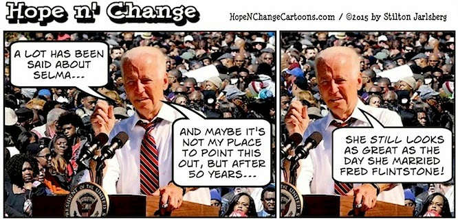 obama, obama jokes, political, humor, cartoon, conservative, hope n' change, hope and change, stilton jarlsberg, selma, bloody sunday, civil rights, racism, biden