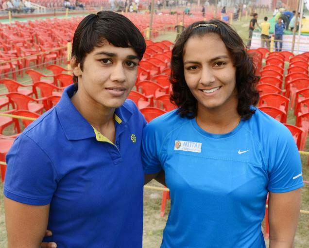 Geeta Phogat and Babita Kumari, India wrestler, Gold medalists