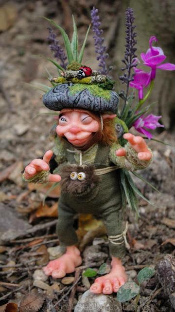 espíritu del bosque pixie duende artesanal adopción ooak
