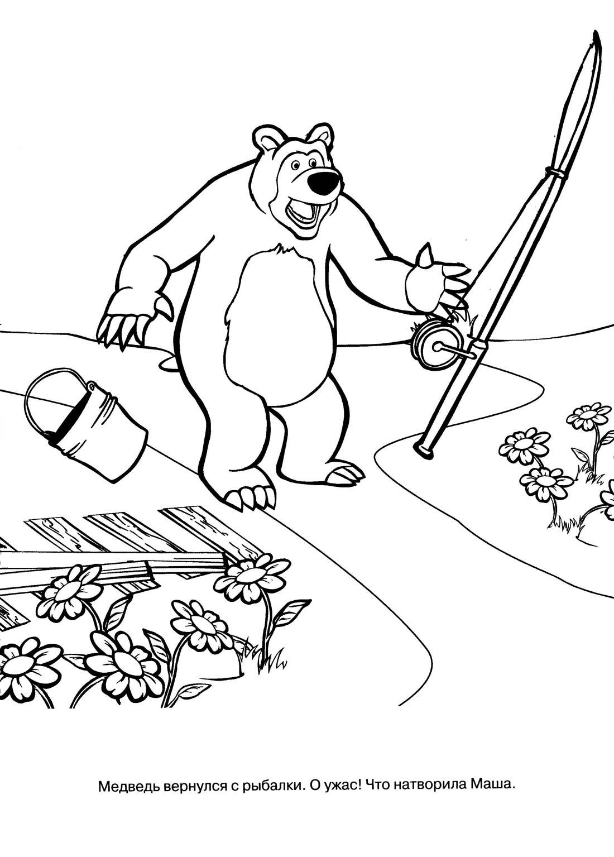 Раскраска маша и медведь все серии подряд
