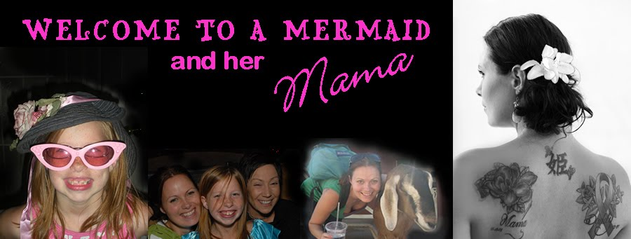 A mermaid and her Mama