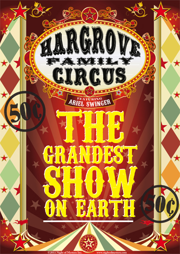Night of mystery circus posters and other good stuff for Circus posters free