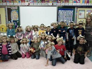 Annika Levitt's first grade class at Kiel in Kinnelon