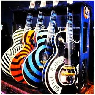 Zakk Wylde  Pelham Blue Bullseye Gibson lp