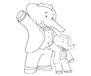 #3 Babar Coloring Page