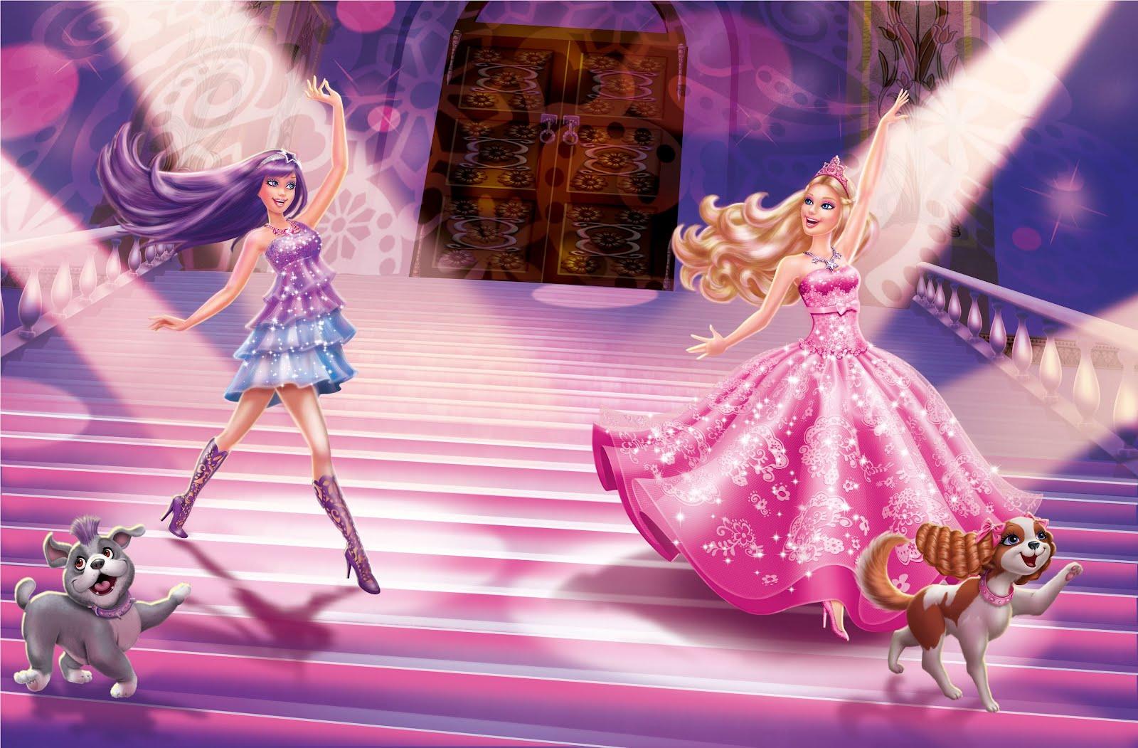 Barbie Princess and the Pop Star Book interior Art