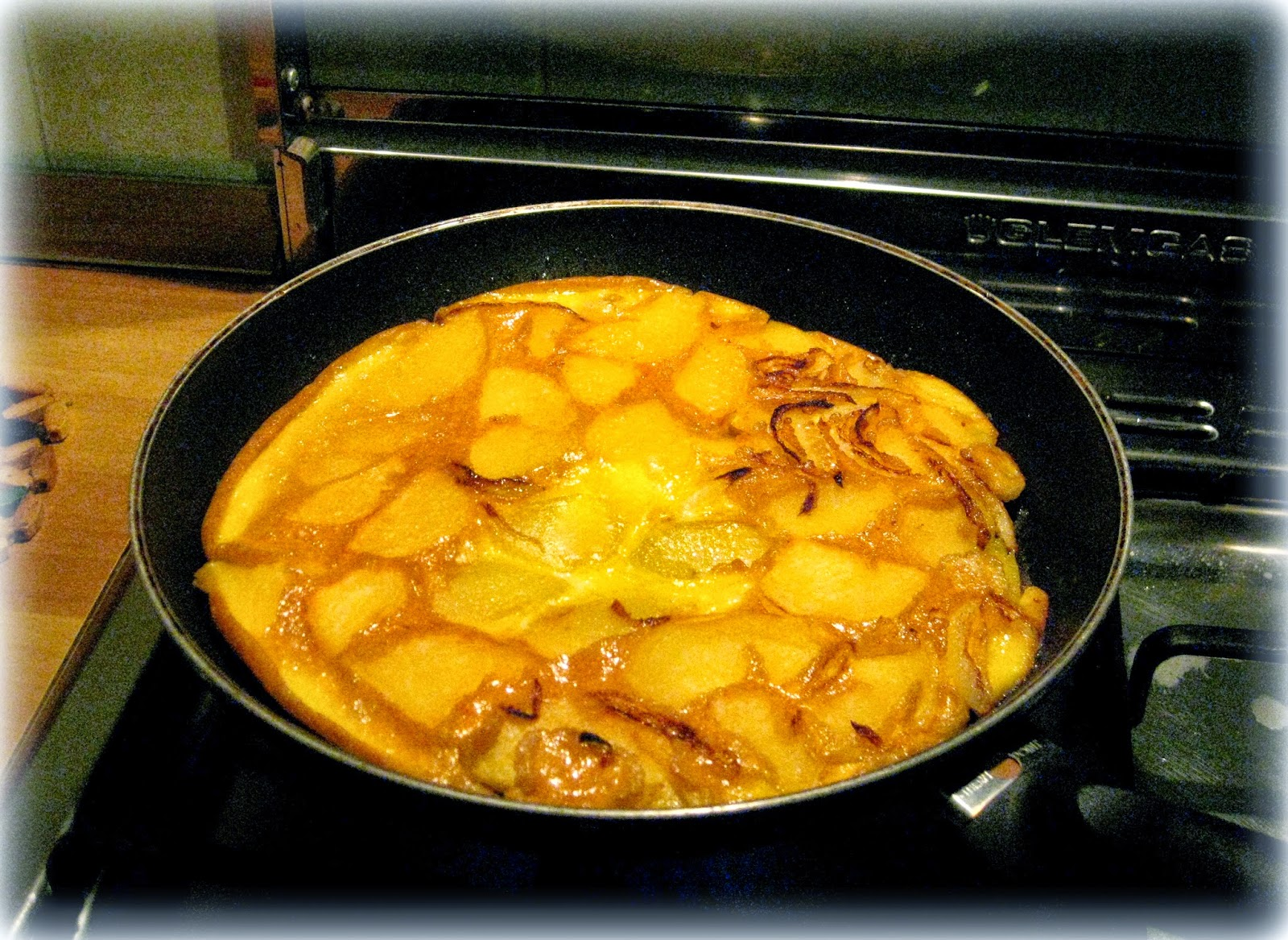 frittata con patate e cipolla