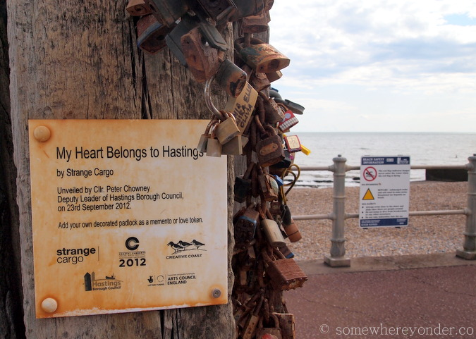 Love locks - Hastings Beach, England