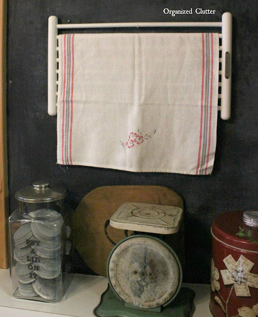 Homemade Noodle Dryer Repurposed for Linen Display