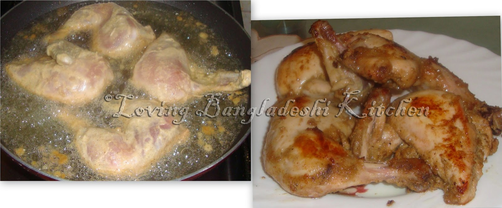 Loving bangladeshi kitchen chicken roast fry onion until it become deep golden brown add remaining marinated paste and stir add fried chicken to ccuart Image collections