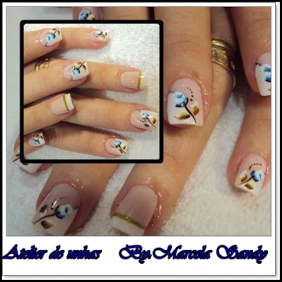 Novas fotos de unhas decoradas de marcela sandy2