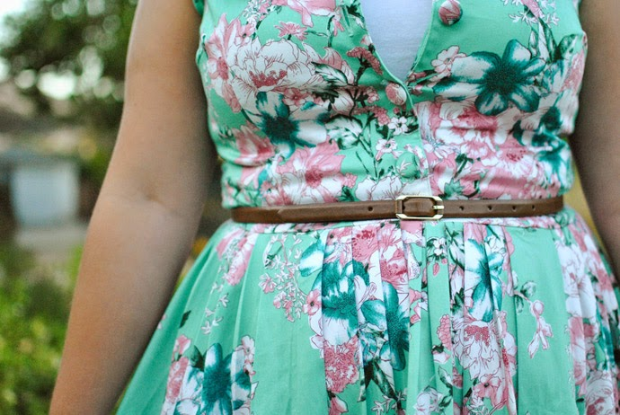 voodoo vixen, retro, mint, floral, vintage, vixen, dress, 50s, swing dress