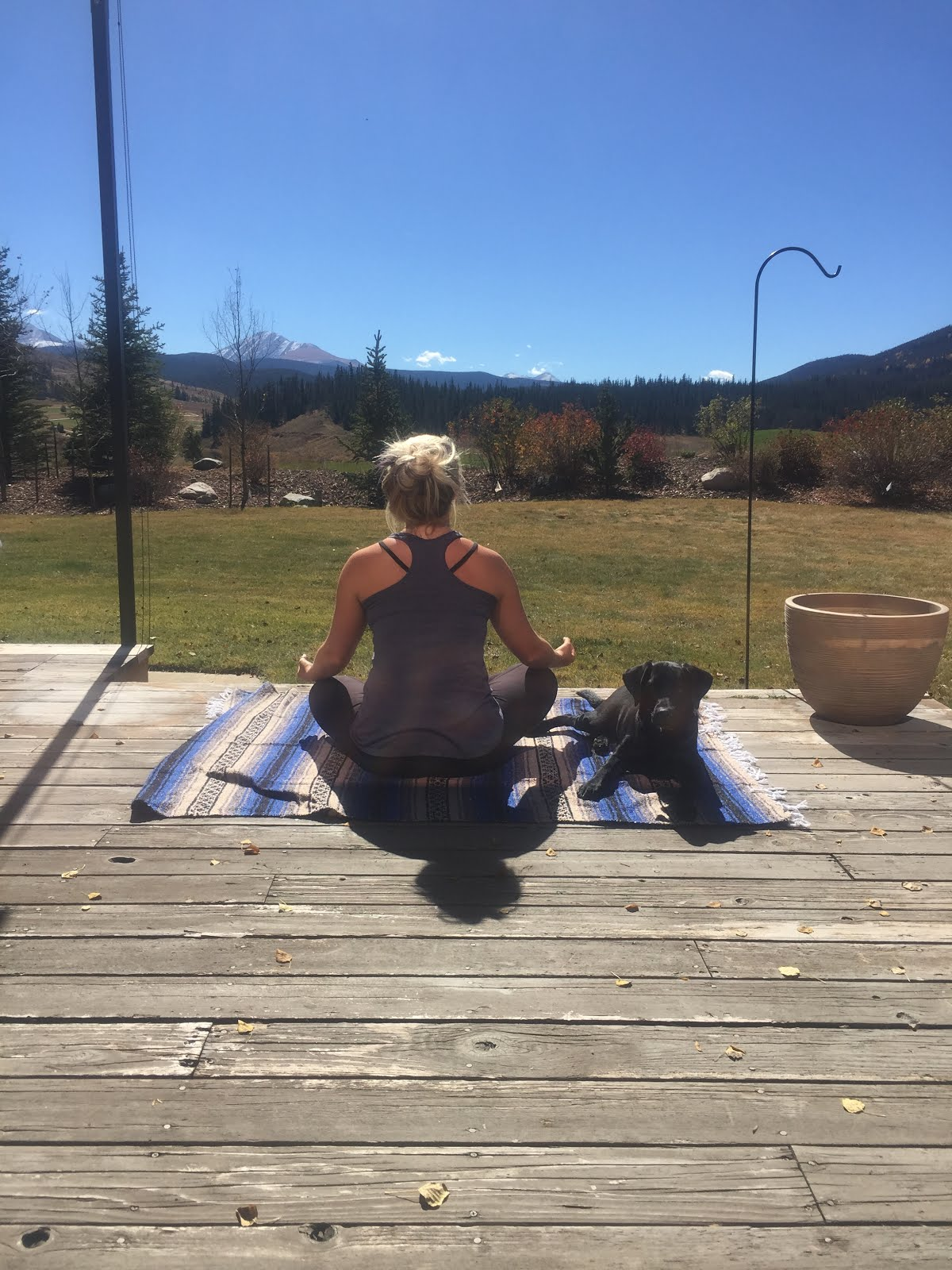 meditating with a view