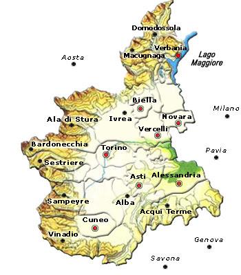 Cartina Politica della Piemonte