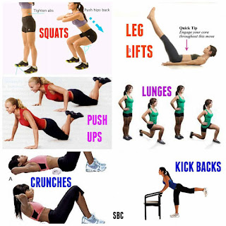 How to do the exercises for the Intermediate Fitness Challenges.