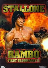 Rambo: First Blood, Part 2 - Starring Sylvester Stallonem Richard Crenna, Charles Napier, and Steven Berkoff - Released in 1985