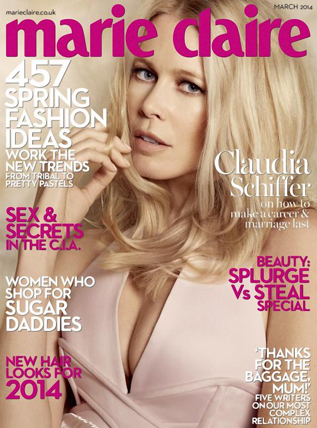 Claudia Schiffer en Marie Claire Magazine
