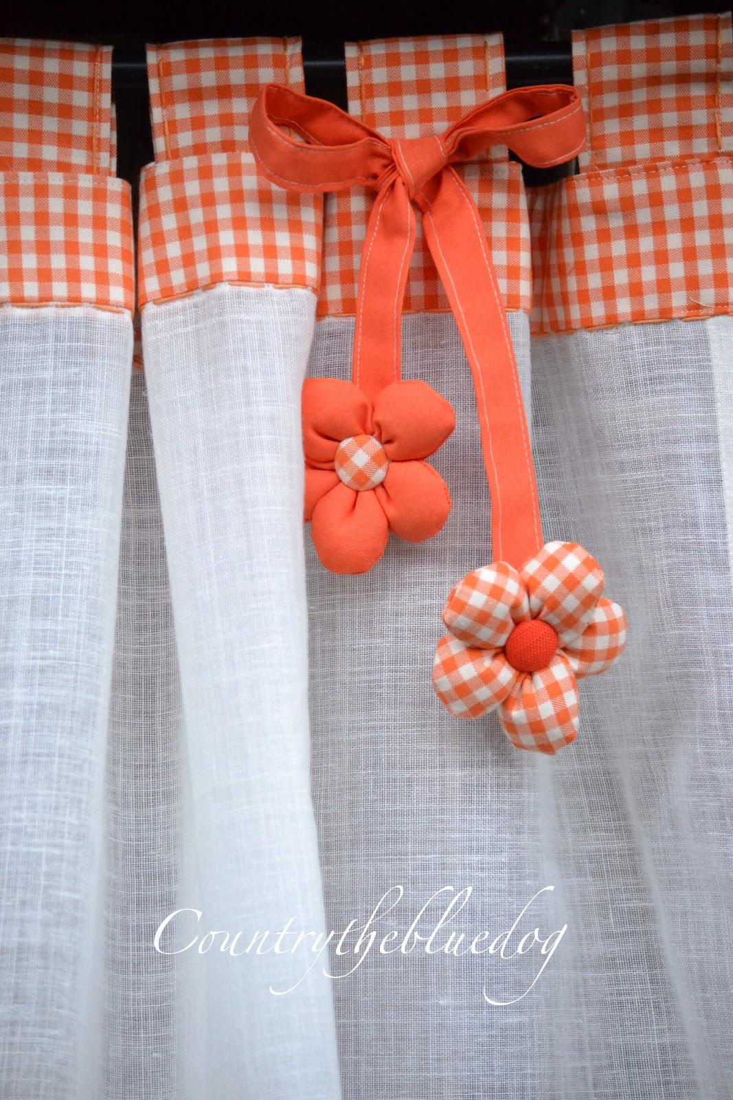 Tende country con tessuto vichy - Tessuti per tende da cucina ...