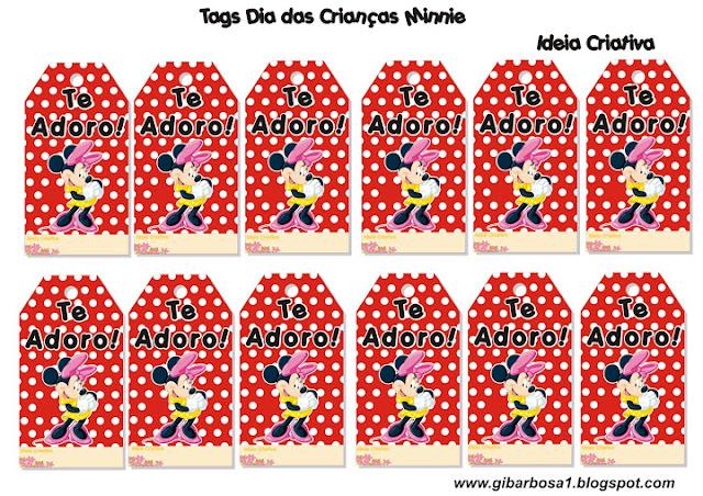 Tags Dia das Crianças Mickey e Minnie