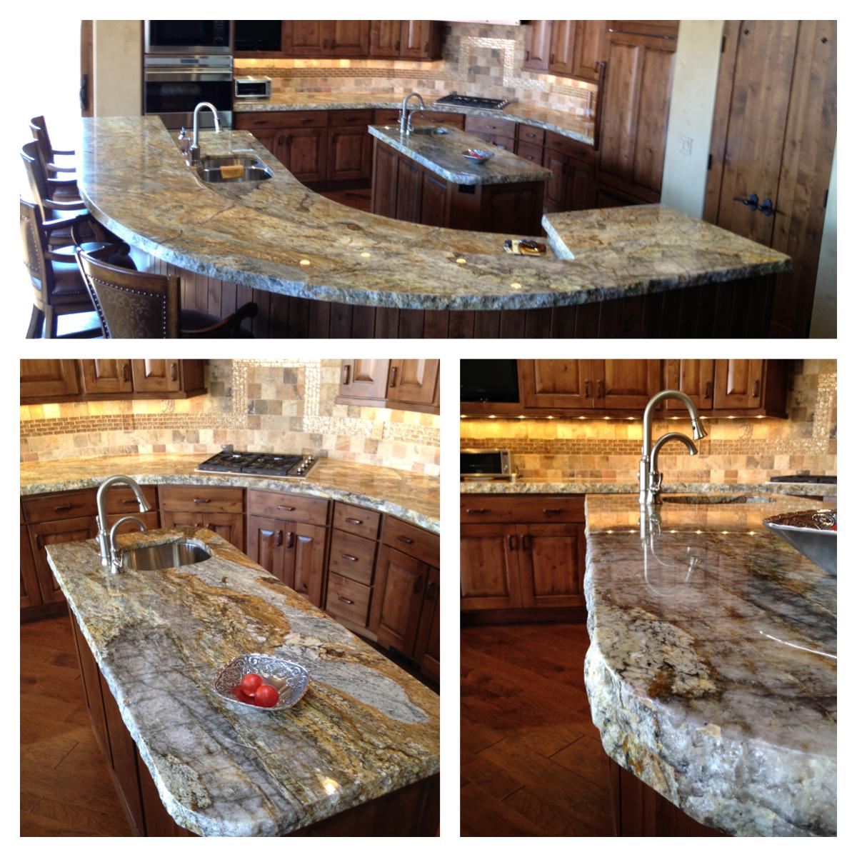 Granite Kitchen: The Granite Gurus: Golden Ray Granite Kitchen From MGS By