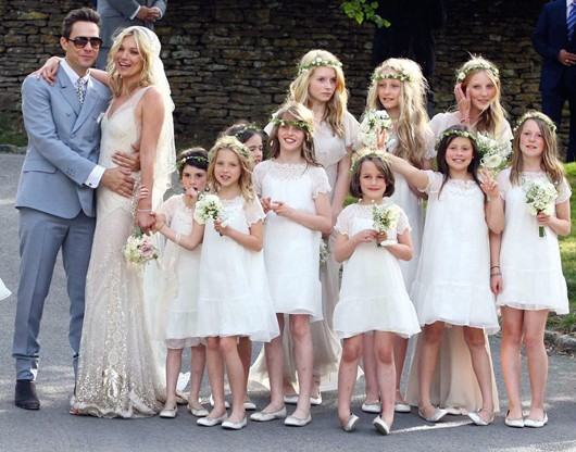 Pajecitos en la boda de Kate Moss