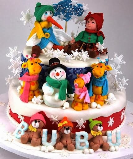 Unusual Christmas Cake Decoration : Christmas Cake designs for your inspiration CGfrog