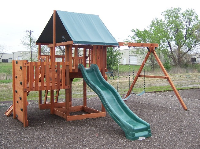 Swing set plans playset plans for kids - Backyard swing plans photos ...