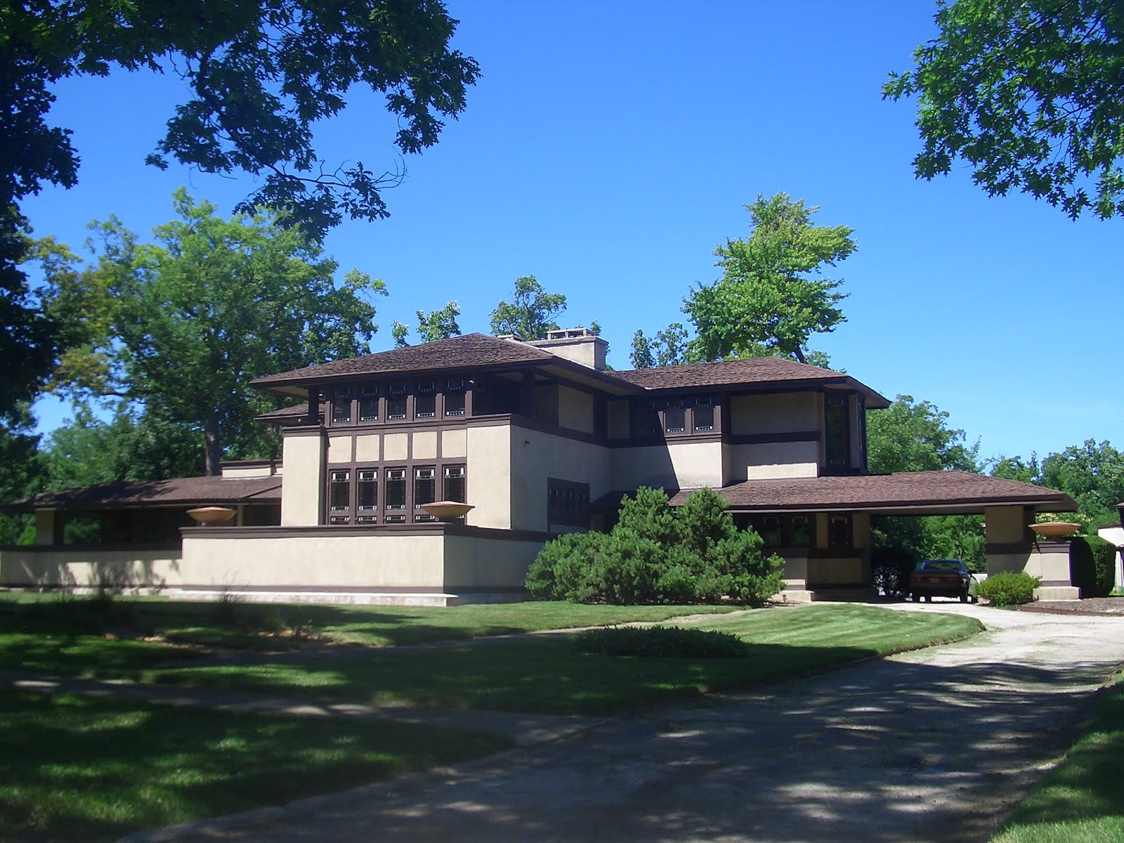 Cool Architecture Frank Lloyd Wright Highland Park Il