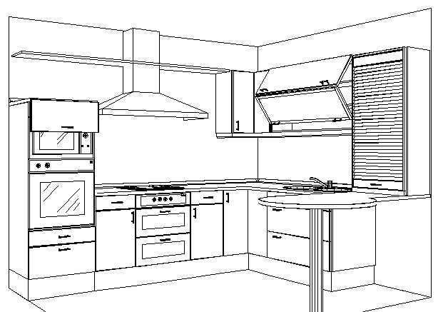Cocinas v p for Programa para dibujar en 3d