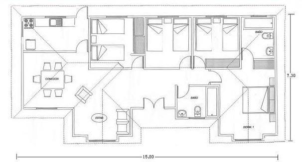 Planos de construccion de casas planos de casas modernas for Precio construir casa 120 metros