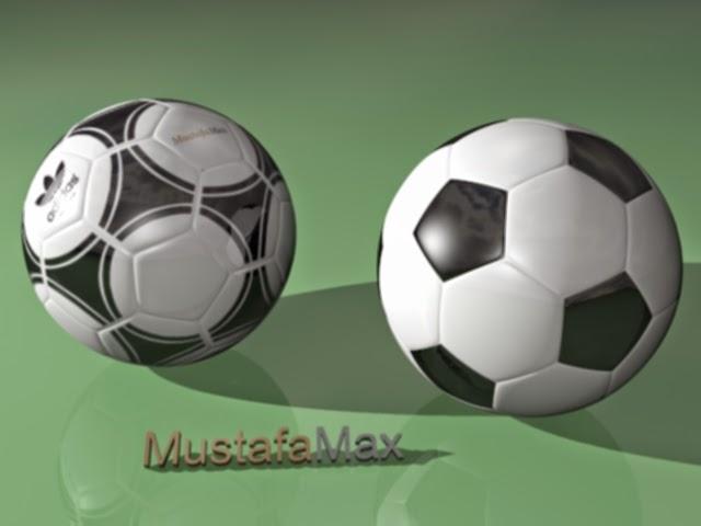 مودلينج كرة قدم في 3d max 2015 وأكسائها في photoshop