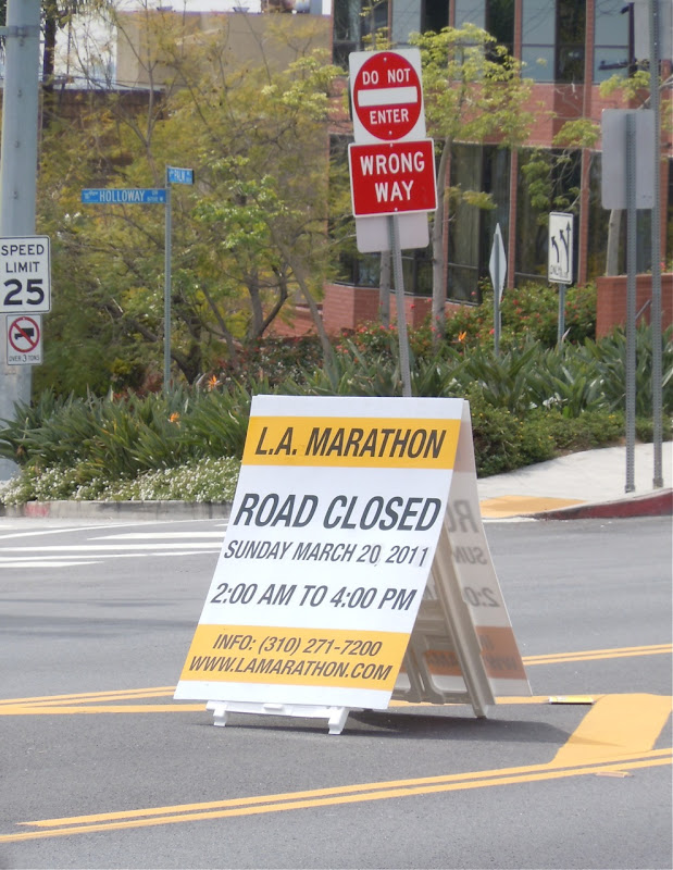 LA Marathon road closures
