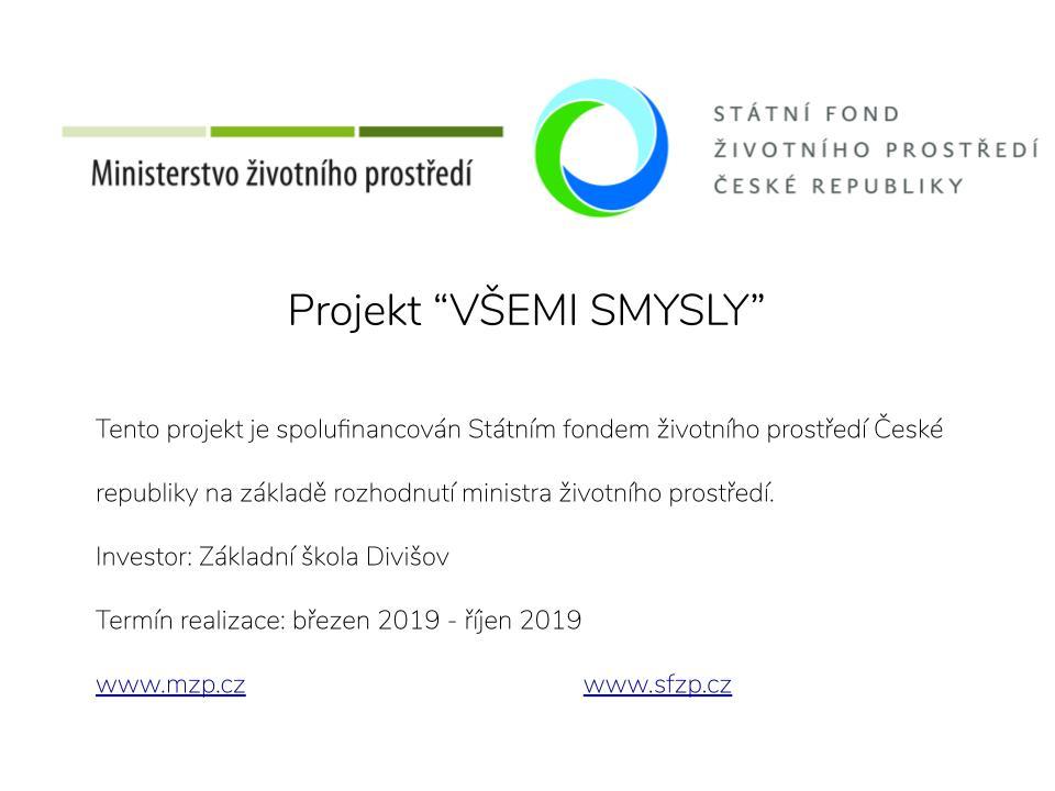 """Projekt """"Všemi smysly"""""""